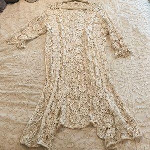 Gorgeous Crochet Kimono Shrug Cardigan Long
